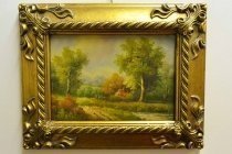 P0314-Oil-Painting-Countryside-Walk-Giltwood-Frame