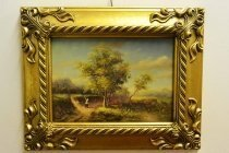 P0315-Oil-Painting-Countryside-Walk-Giltwood-Frame