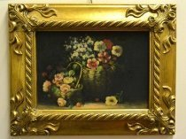 P0321-Oil-Painting-Flowers-Giltwood-Frame