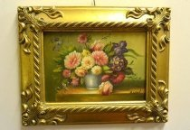 P0322-Oil-Painting-Flowers-Giltwood-Frame
