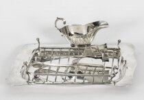 Antique Art Deco Silver Plated Apparatus Serving Set Circa 1920