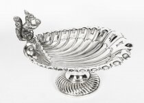 Antique Victorian Silver Plated Squirrel Nut Dish Francis Howard circa 1870