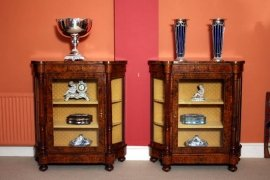 01411-Pair-Victorian-Burr-Walnut-Inlaid-Display-Cabinets-13