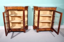 01411-Pair-Victorian-Burr-Walnut-Inlaid-Display-Cabinets-3