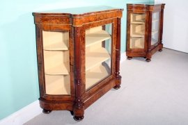 01411-Pair-Victorian-Burr-Walnut-Inlaid-Display-Cabinets-4