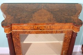 01411-Pair-Victorian-Burr-Walnut-Inlaid-Display-Cabinets-6