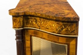 01411-Pair-of-Burr-Walnut-Display-Cabinets-Victorian-Style-13