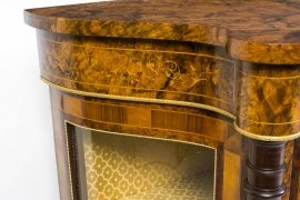 01411-Pair-of-Burr-Walnut-Display-Cabinets-Victorian-Style-14