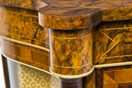 01411-Pair-of-Burr-Walnut-Display-Cabinets-Victorian-Style-16