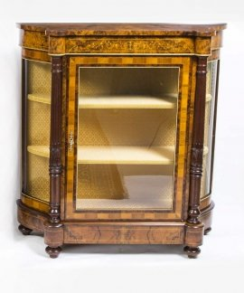 01411-Pair-of-Burr-Walnut-Display-Cabinets-Victorian-Style-5