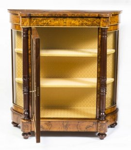 01411-Pair-of-Burr-Walnut-Display-Cabinets-Victorian-Style-6