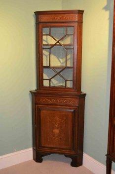 03202-Antique-English-Edwardian-Inlaid-Corner-Cabinet-C1900-1