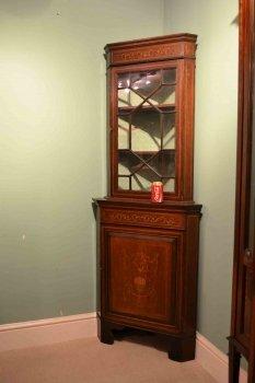 03202-Antique-English-Edwardian-Inlaid-Corner-Cabinet-C1900-11