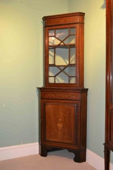 03202-Antique-English-Edwardian-Inlaid-Corner-Cabinet-C1900-2