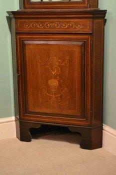 03202-Antique-English-Edwardian-Inlaid-Corner-Cabinet-C1900-5
