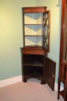 03202-Antique-English-Edwardian-Inlaid-Corner-Cabinet-C1900-6
