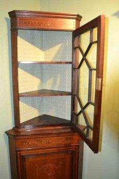 03202-Antique-English-Edwardian-Inlaid-Corner-Cabinet-C1900-7