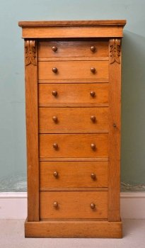 03911-Antique-Victorian-Oak-Wellington-Chest-C-1870-1