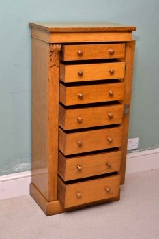 03911-Antique-Victorian-Oak-Wellington-Chest-C-1870-6