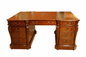 Beautiful Bespoke 6ft Georgian Revival Partners Pedestal Desk 20th C