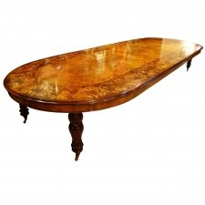 Huge 5 Meter Marquetry Extending Burr Walnut Bespoke Dining Table