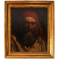 Antique Painting & 39 Old Fisherman& 39 A H Cabuzel