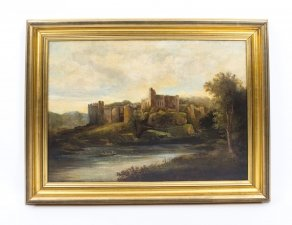 Antique Painting & 39 Ruins of Chepstow& 39 Castle