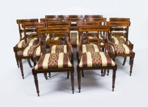 Bespoke Set of 14 Regency Style Dining Armchairs Chairs