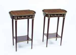 Pair of French Louis XVI Style Occasional Bedside Tables