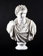 Stunning Composite Marble Bust Roman Emperor General Marc Anthony
