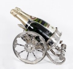 Vintage Silver Plated Cannon Wine Champagne Holder 20th Century