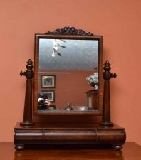 Antique Victorian Mahogany Dressing Table Mirror 81 x 67 cm