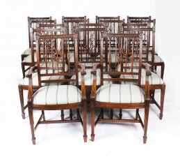 Bespoke Set 16 Mahogany Arrowback Dining Chairs