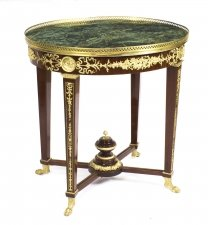 French Empire Revival & 34 Verde Antico& 34 Green Marble Top Occasional Centre Table