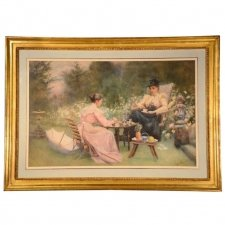 Antique Watercolour by Maude M Turner