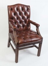 Bespoke English Handmade Gainsborough Leather Desk Chair