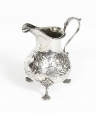 Antique Victorian Sterling Silver Cream Jug London1854 19th Century