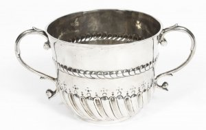 Antique William & Mary Sterling Silver Porringer 1694 17th Century
