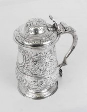 Antique George III Silver Tankard London 1773