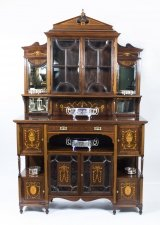 Antique Edwardian Rosewood Inlaid Cabinet