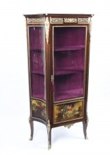 Antique French Vernis Martin Display Cabinet