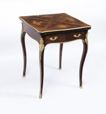 Antique Victorian Rosewood & Ormolu Envelope Card Table