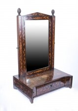 Antique Dutch Marquetry Dressing Table Mirror 68 x 43 cm