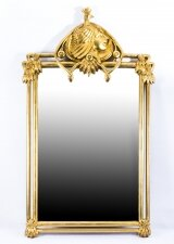 Beautiful French Art Nouveau Style Giltwood Mirror 121 x 71cm