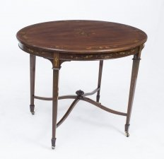 Antique English Mahogany Painted Occasional TableC1890