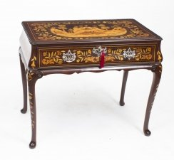 Antique Dutch Mahogany Floral Marquetry Side Table C1780
