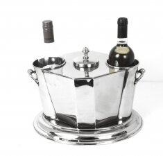 Silver Plated Art Deco Style Wine Cooler Ice Bucket