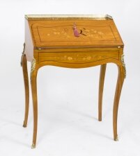 Antique Satinwood & Marquetry Bureau de Dame