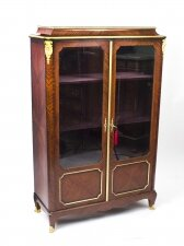 Antique French Ormolu Mounted Display Cabinet Tansien& Dantat 19th C
