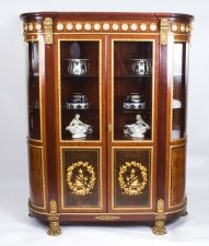 Vintage Louis Revival Ormolu Mounted Vitrine Display Cabinet by & 34 Mariner 1893& 34